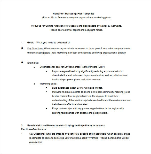 9 marketing plan templates free sample example format for Nonprofit communications plan template