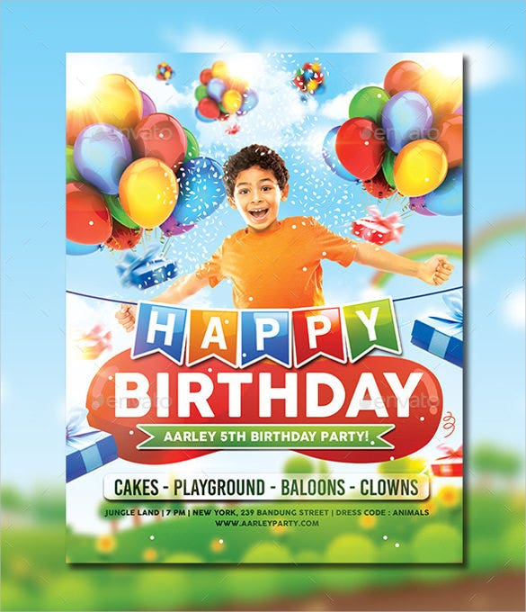 Birthday Party Invitation Templates Free Sample Example - Birthday party invitation flyer template