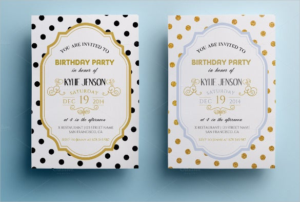 elegant birthday party invitation for download