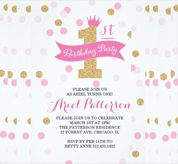 Princess Birthday Party Invitation Template  Birthday Invitation Samples