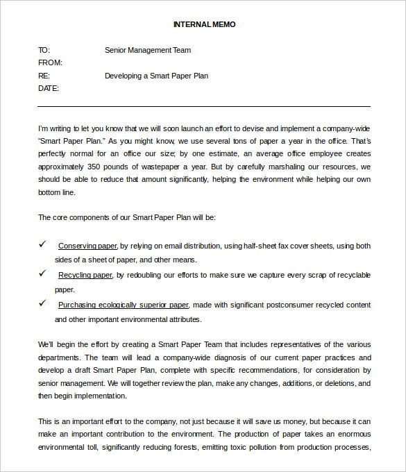 free management internal memo template word doc