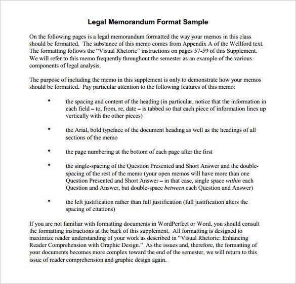 legal internal memo template free pdf printable