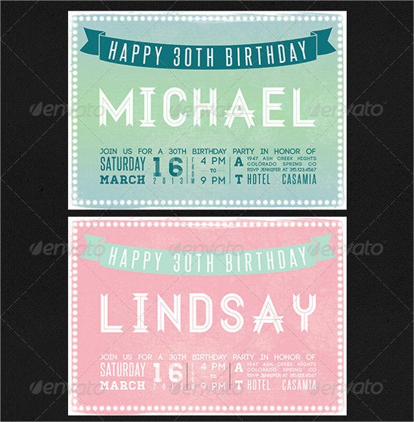 print ready birthday card invitation