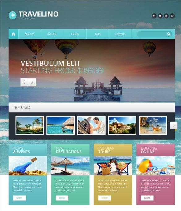 travel agency broker wordpress theme