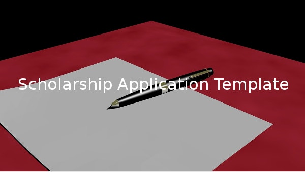 scholarshipapplicationtemplate