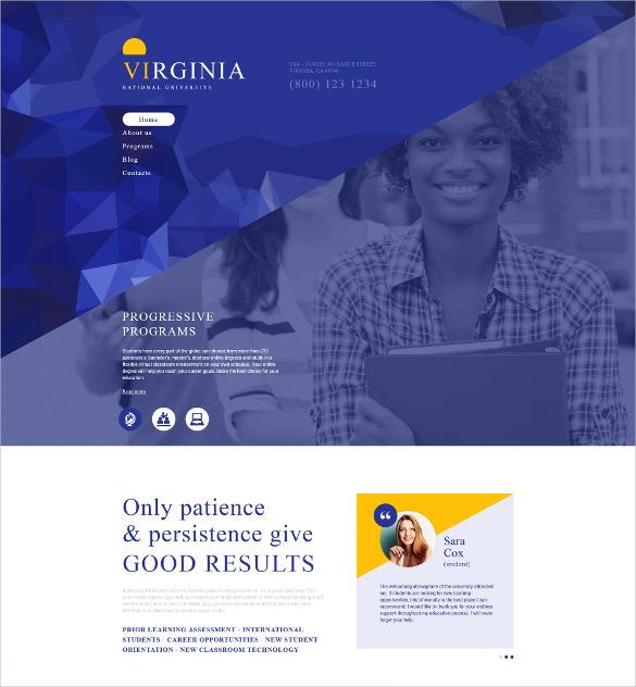 national university academic drupal blog template