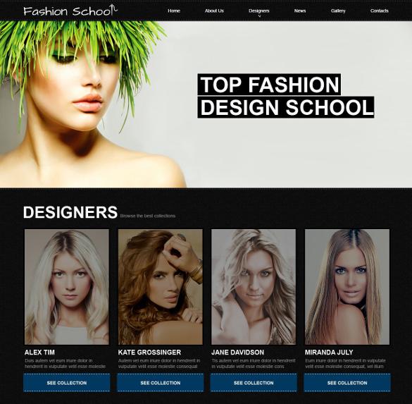 fashion academic school joomla blog theme