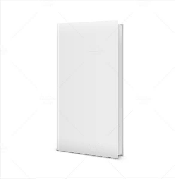 blank white standing book template