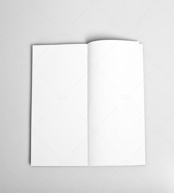 open magazine with blank pages1