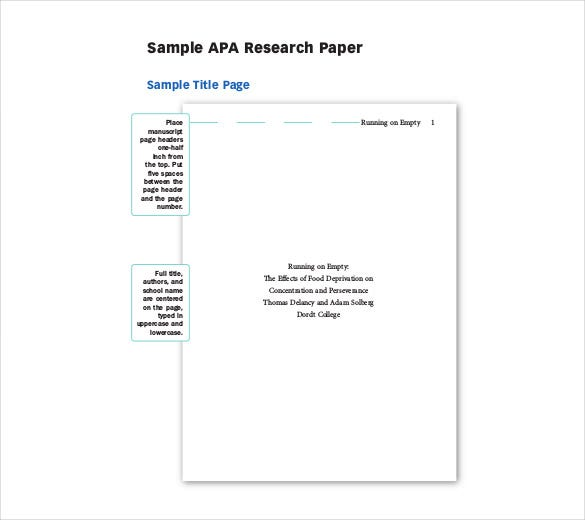 42 paper templates free sample example format for Blank apa format template
