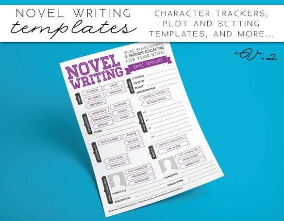 novel writing templates