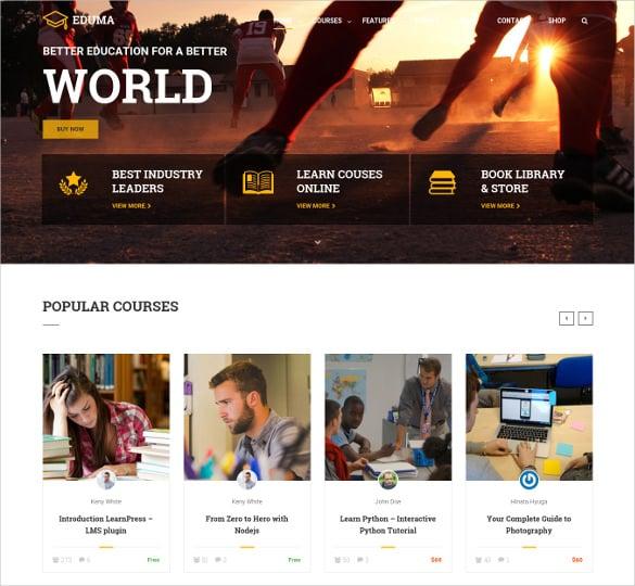 attractive academic wordpress blog template