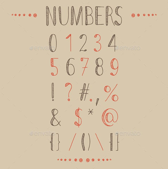 Hand Drawn Font And Numbers Download