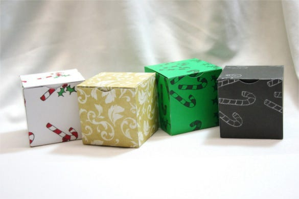 hinged lid paper cube box