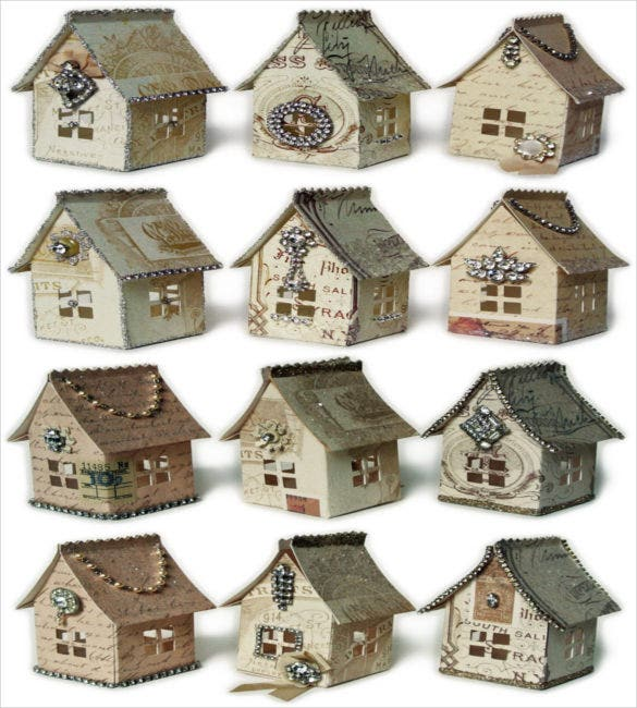 14 paper house templates free sample example format for Paper house templates to print