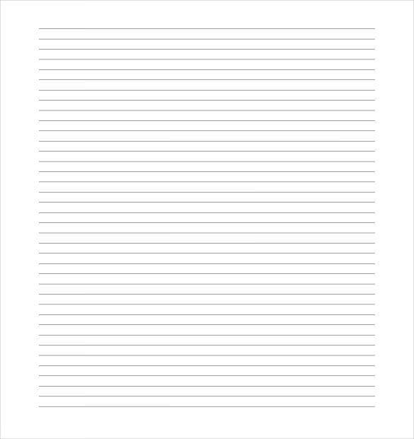 7 ruled lined paper templates free sample example