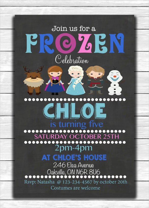 simple and beautiful frozen birthday invitations for kids
