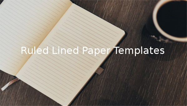 ruled lined paper templates