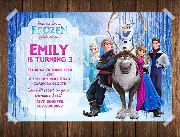 creative and elegant frozen birthday invitation