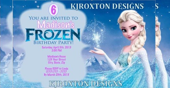 26 Frozen Birthday Invitation Templates Free Sample Example