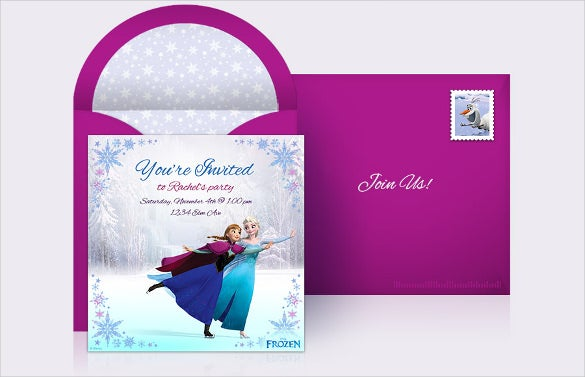 online frozen birthday invitation for special occasions