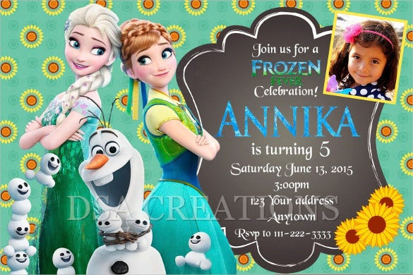 custom frozen fever birthday invitation