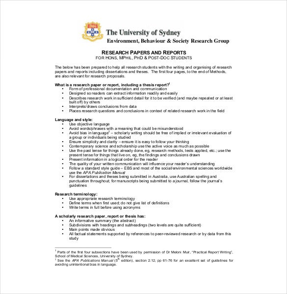 Outline for a science fair research paper   Reference in research