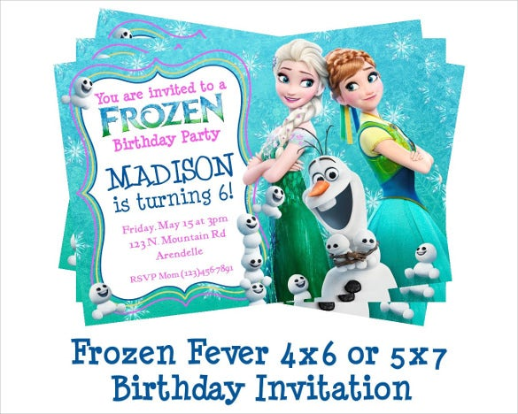 disney frozen fever birthday invitation template
