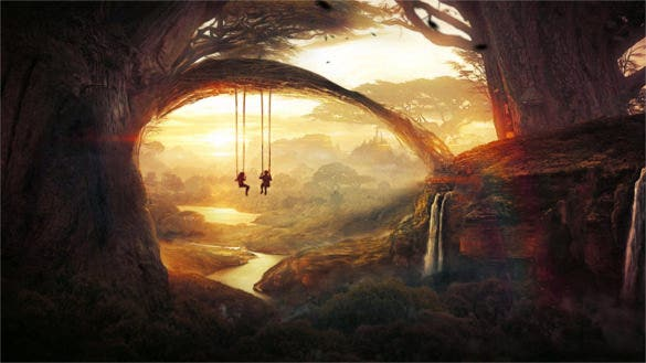 tree swing awesome backgrounds download