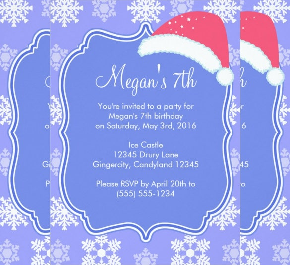26 frozen birthday invitation templates psd ai eps free snowflake designed winter frozen birthday invitation stopboris Choice Image