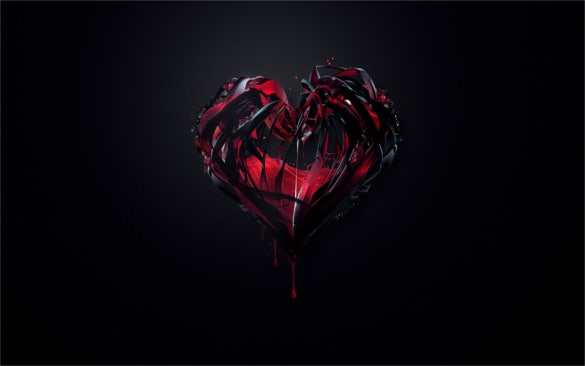 heart with blood really awesome backgrounds