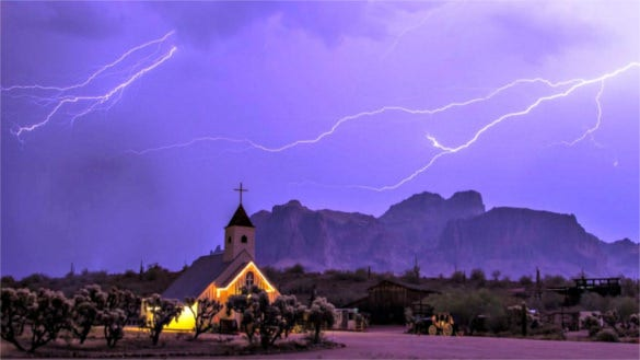 lightning on church best background pictures