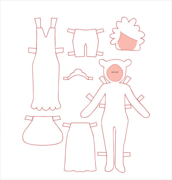 Awesome Sample Paper Doll Dress Template