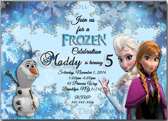 Frozen Themed Invites Idas Ponderresearch Co