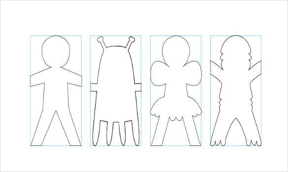 Free Paper Doll Chain Download