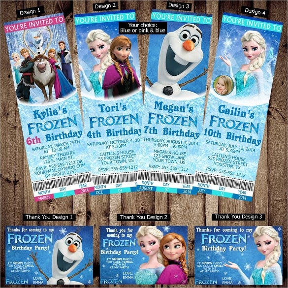 26 Frozen Birthday Invitation Templates Free Sample Example – Personalized Disney Birthday Invitations