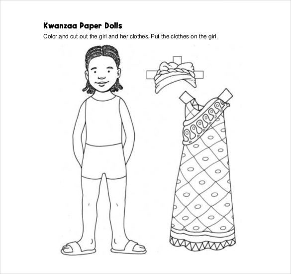 Paper Doll Templates  Free Sample Example Format Download