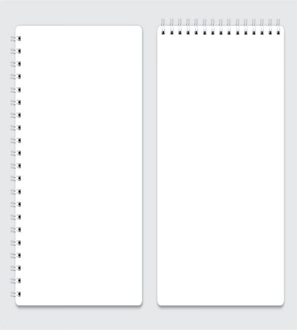 10 Notebook Paper Templates Free Sample Example Format – Notebook Paper Template