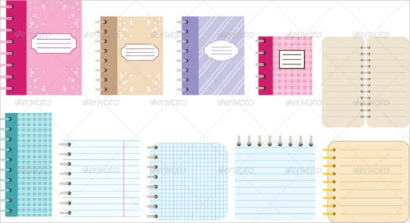 notebook paper template for word – 4