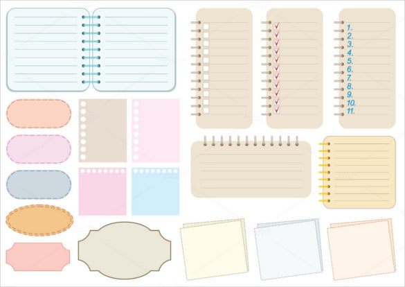 Sample Notebook Paper Template For Smartboard U2013 $5  Notepad Paper Template