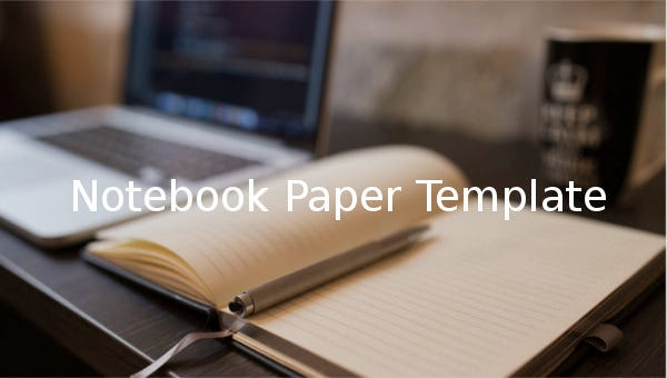 notebook paper templates