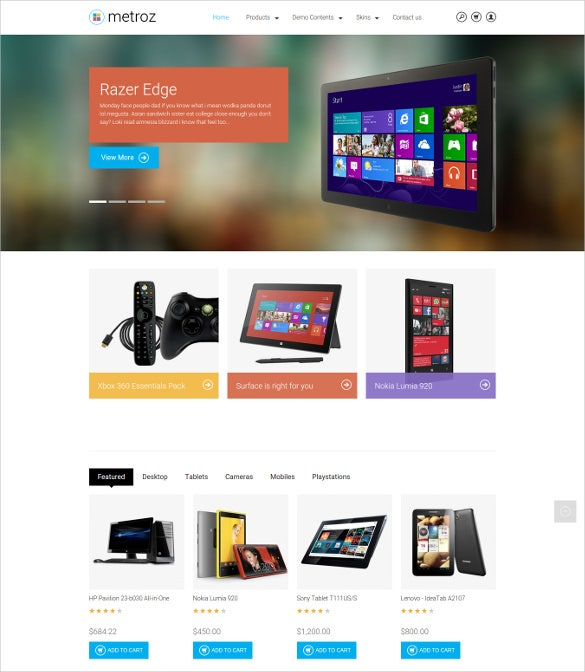 Responsive Drupal Ecommerce Template