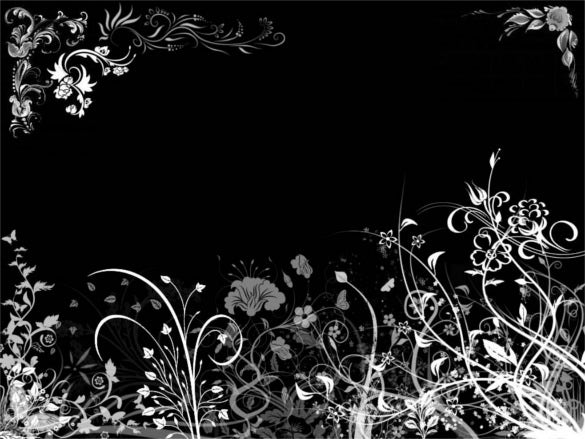 dark black floral background download for phone