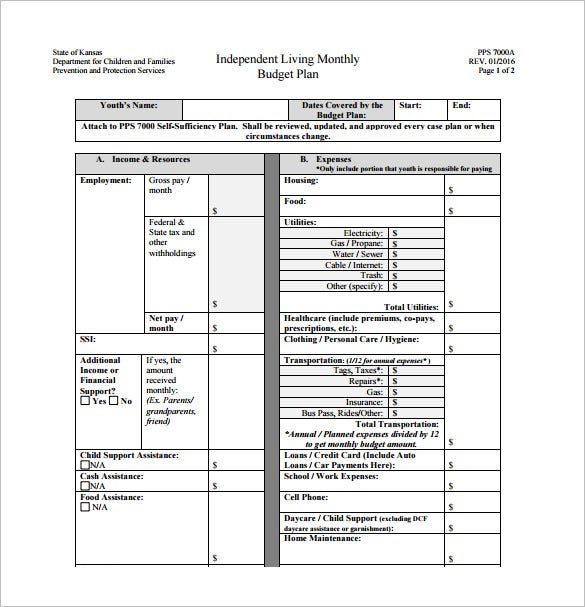 12 Budget Plan Templates Free Sample Example Format Download – Budget Plan Template