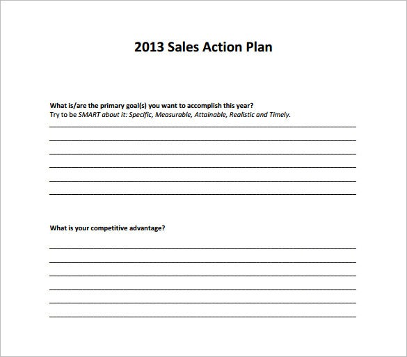 9+ Action Plan Templates – Free Sample, Example, Format Download