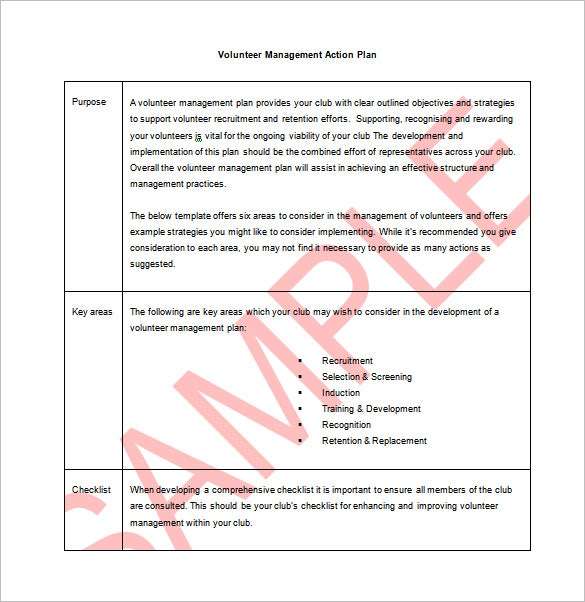 9+ Action Plan Templates – Free Sample, Example, Format Download ...
