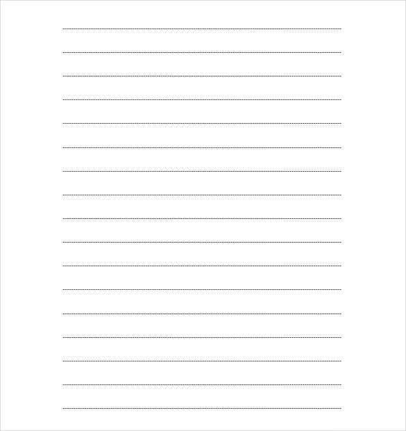 10 Writing Paper Templates Free Sample Example Format