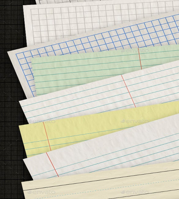 premium wrinkled lined writing paper template