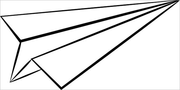 picture relating to Printable Paper Airplane Template referred to as 11+ Paper Plane Templates - Cost-free Pattern, Case in point, Layout