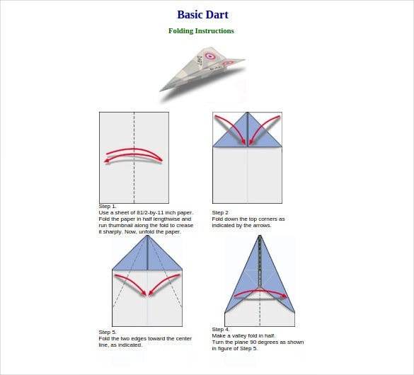 12 Paper Airplane Templates Free Sample Example Format Download